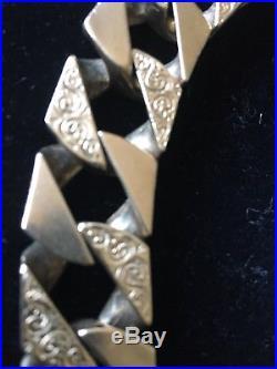 Heavy 9 Ct Gold Curb Chain 296 Gram