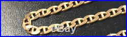 Heavy 9 ct Gold Fully Hallmarked Flat Link Anchor Chain 18.5 inches