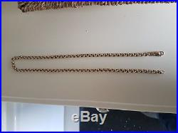 Heavy 9ct 50G Solid Gold Belcher 21 Chain/ Necklace. Excellent Condition