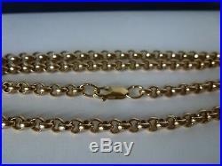 Heavy 9ct 9carat Yellow Gold Belcher Chain, 23 Inch, 34.2 grams
