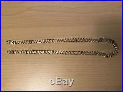 Heavy 9ct Gold 24 Inch Curb Chain 62 grams 2.2 ounces