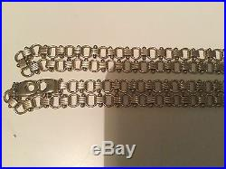 Heavy 9ct Gold 24 inch 40.3 grams Fancy link chain. Not scrap Curb, eye catcher
