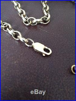 Heavy 9ct Gold Belcher Chain Necklace 25 Long & 40.2g