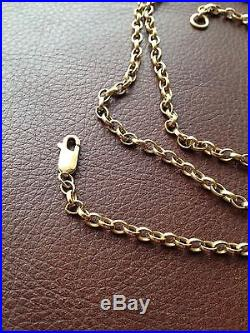 Heavy 9ct Gold Belcher Necklace Chain 31 Long & 18.8g