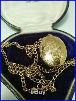 Heavy 9ct Gold Chain And Locket Necklace