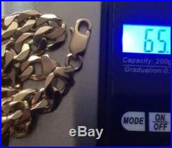 Heavy 9ct Gold Curb Chain 24 Inch