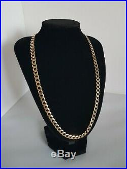 Heavy 9ct Gold Curb Chain Hallmarked 46.6 Grams 59cm RRP £2,000