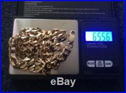 Heavy 9ct Gold Curb Cuban Chain 24 Inch