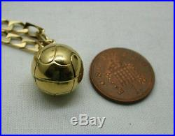 Heavy 9ct Gold Football Shaped Pendant And Chain