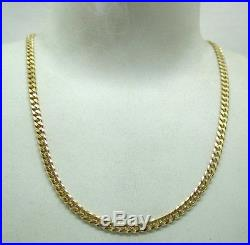 Heavy 9ct Gold Nice Quality Curb Link Neckchain