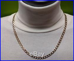 Heavy 9ct Gold curb chain well Hallmarked 14.8g 0.5 oz, wide links