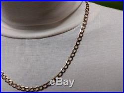 Heavy 9ct Gold curb chain, well Hallmarked 14.8g, solid gold 20 chain