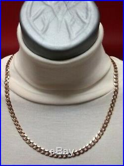 Heavy 9ct Gold curb chain well hallmarked, 30.7g ounce. Solid chain