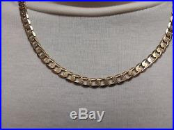 Heavy 9ct Gold curb chain well hallmarked 32g, over 1oz, mint condition solid