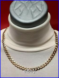 Heavy 9ct Gold curb chain well hallmarked, 40.8g Massive solid chain