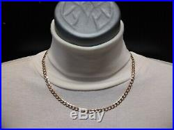 Heavy 9ct Gold curb chain well hallmarked, solid chain 11.2g