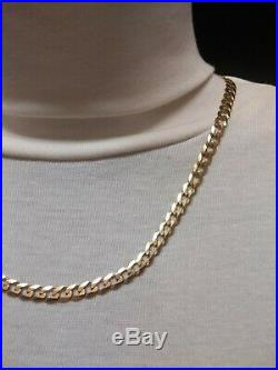 Heavy 9ct Gold curb chain well hallmarked, solid chain, 15.8g, over 1/2 oz