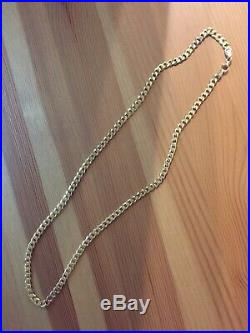 Heavy 9ct Gold curb chain well hallmarked, solid chain, 27g New