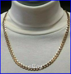 Heavy 9ct Gold curb chain well hallmarked, solid chain 29.7 g