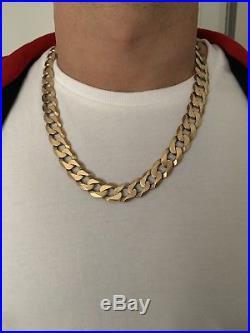 Heavy 9ct gold curb chain