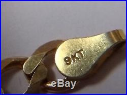 Heavy 9ct gold curb chain well hallmarked and solid, 10g