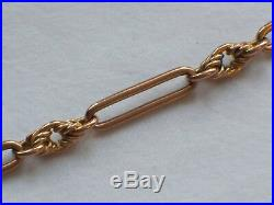 Heavy Antique Solid 9ct Rose Gold Double Albert Pocket Watch Chain