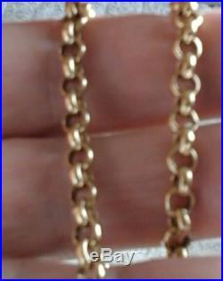 Heavy Gents 9ct Gold Belcher Link Chain 20'' 29.15 grams