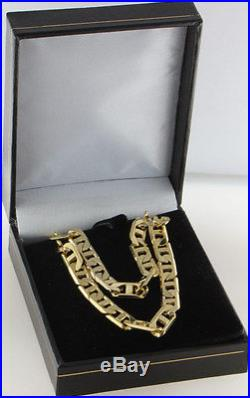 Heavy Hallmarked 9ct Gold Anchor Link Curb Chain 24.5 RRP £1449.99 WY22