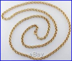 Heavy Hallmarked 9ct Gold Extra Long Belcher Chain 31 59.2 G RRP £2250 BT1