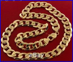 Heavy Hallmarked Solid 9 ct Gold Curb Chain 20 80.3 G RRP £2810 BWZ10