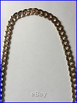 Heavy Mens 9ct Gold Curb Link Neck Chain 24 73g