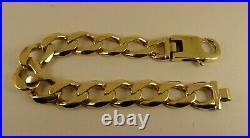 Heavy Mens 9ct Gold HEAVY CURB BRACELET 8.75 57Gram Hallmarked 15mm RRP£2850+