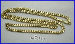 Heavy Nice Quality 9ct Gold Cuban Curb Link Neckchain