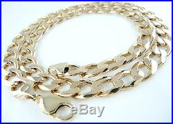 Heavy Solid (67.33g) 9ct Gold Curb Chain (21) Hallmarked Necklace 9k 375