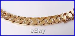 Heavy Solid (70.64g) 9ct Gold Curb Chain (18) Hallmarked Necklace 9k 375