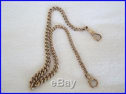 Heavy Solid 9ct Gold Albert Chain 31.5 grms