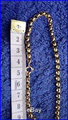 Heavy Solid 9ct Gold BELCHER Chain 23 inch 22 grammes