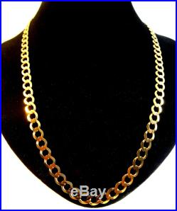 Heavy Solid 9ct Gold CURB Chain Necklace 18 22.3gr Hm RRP £1100 7mm links cx321