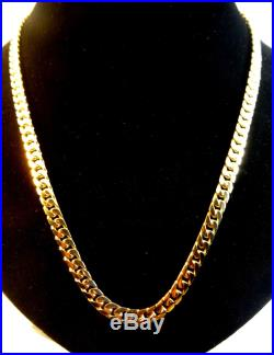 Heavy Solid 9ct Gold CURB Chain Necklace 20 38g 1Oz Hm RRP £2000 5mm link cx342