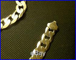 Heavy Solid 9ct gold curb chain