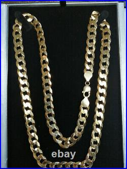 Heavy Solid Yellow 9ct Gold Curb Chain 4oz 30 Inch Display Box