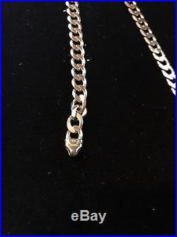 Heavy UK Hallmarked 9ct Gold Curb Chain 20.5 32.96Grams RRP £1355 Not Scrap