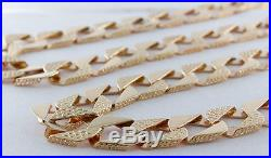 Heavy UK Hallmarked 9ct Gold Large Solid Curb Chain 85.7 G 30 RRP £3435 C19