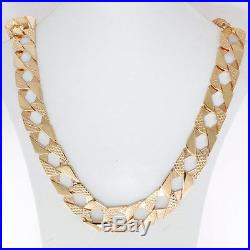 Heavy UK Hallmarked 9ct Gold Large Solid Curb Chain 85.8 G 30 RRP £3435 C19