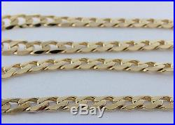 Heavy UK Hallmarked Solid 9ct Gold Link Curb Chain 24 70.6 G RRP £2480 WG14