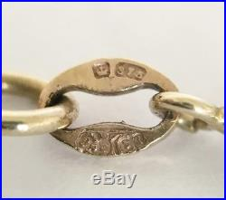 Heavy Vintage 9ct Gold Belcher Necklace Chain 22 Long Length 11.1 grams