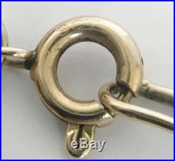 Heavy Vintage 9ct Gold Belcher Necklace Chain 31 Long Length 14.6 grams