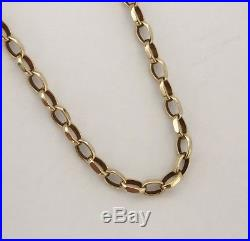 Heavy Vintage 9ct Gold Belcher Necklace Chain 33 Long Length 8 grams