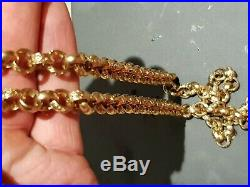 Heavy sort after 30 inch solid 9ct GOLD BELCHER chain not scrap Or curb keeper