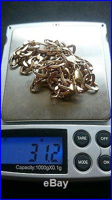 Heavyweight 9ct Gold Curb Chain 31.2 Grams. Stamped